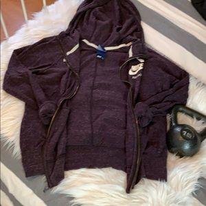 Feathered purple Nike sportswear jacket